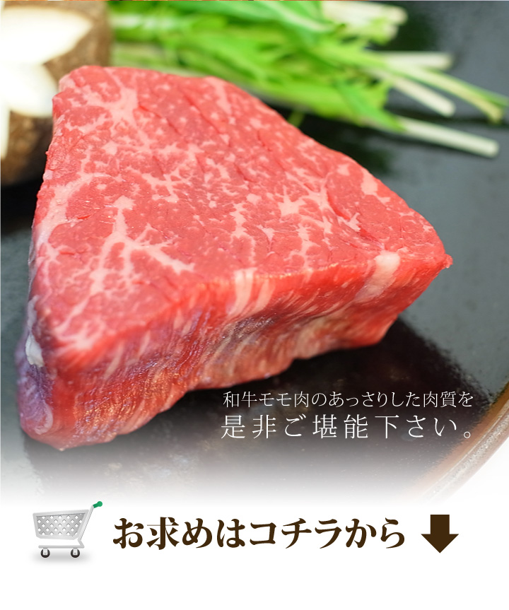 和牛モモ肉100g
